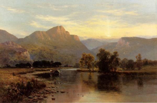 Breanski Alfred De Tal y Llyn North Wales